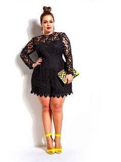 """""""Marta"""" Crochet Lace Romper-Black - Clothes. ** Learn more at the image"""