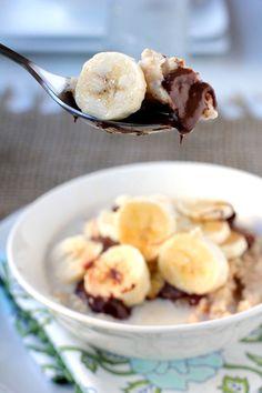 Banana nutella oatmeal