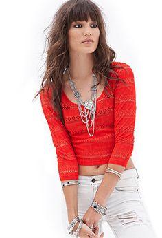 crochet crop top- forever21