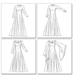 McCalls M4490 Misses' Costumes. Needs re-grading, simple gown for medieval/plain dress.