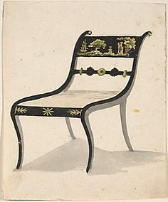 Design for an Armchair  Attributed to Gillows (British, 19th century)  Date: ca. 1820