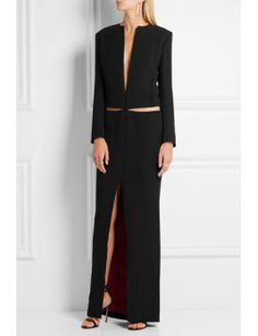 cutout-crepe-gown by haider-ackermann  #dress #fashion #trends #onlineshopping #shoptagr