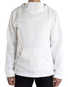 White hoodie.
