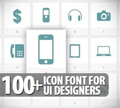 100+ Icon Font For UI Designers