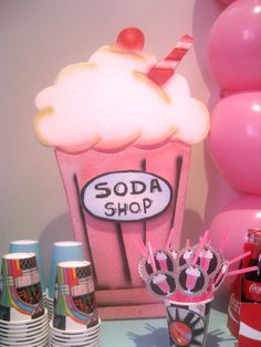 Sock Hop 50'S Theme diner Birthday Party Ideas   Photo 1 of 21   Catch My Party