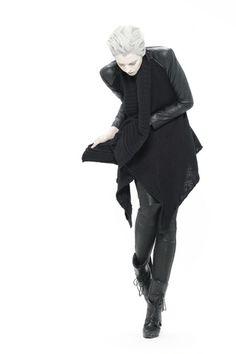 SKINGRAFT wool leather cardigan