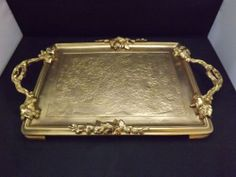 HUGE SOLID BRONZE TRAY CHARGER SIGNED A MARIONNET MADE IN FRANCE PARIS 19""