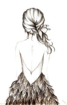 H картинки красивые девушка спиной