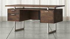 Clybourn Walnut Executive Desk | Crate and Barrel