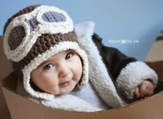 Crochet airplane hats