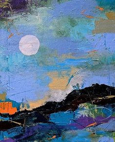 """Where ART Lives Gallery Artists Group Blog: Contemporary Abstract Painting """"Moon in My Space"""" ..."""