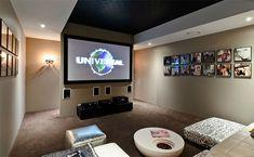 Crear una sala de cine en casa.  Promenade Residence by Bayden Goddard Design Architects (9)