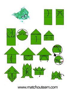 origami facile a faire grenouille