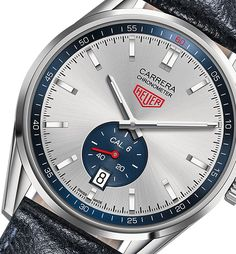 TAG Heuer Carrera Calibre 6 Chronometer watch angle - Perpetuelle