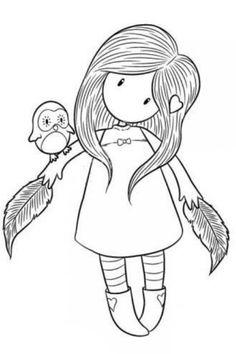 Mädchen mit Federn