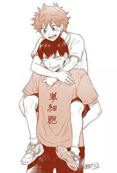 Haikyuu Kagehina omg Kageyama's smile they look like brothers