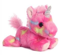 7 Inch Jellyroll Pink Unicorn Plush Stuffed Animal by Aurora in Toys & Hobbies, Stuffed Animals, Other Stuffed Animals | eBay