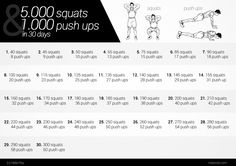 5000 Squats & 1000 Push Ups 30 Day Challenge #workout   #30daychallenge
