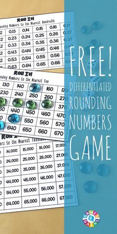 Roll It! Rounding Game – Games 4 Gains