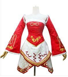 League of legends costume-Ahri dress and headband