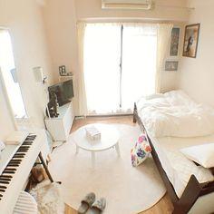 c18b9043ae9e5 部屋全体 定点観測 ひとり暮らし 狭い部屋 一人暮らし 広角レンズ...などのインテリア実例 - 2017-09-27 23 22 46 |  RoomClip(ルームクリップ)