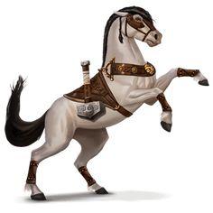 Creature Drawings, Horse Drawings, Animal Drawings, Magical Creatures, Fantasy Creatures, Fantasy Races, Fantasy Art, Armas Ninja, Horse Armor