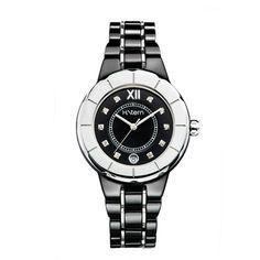 Relógio feminino de cerâmica preta e índices de diamantes http://m.hstern.com.br/relogio/feminino/sports-luxury/RS9AC204034