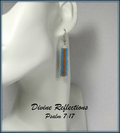 Blue and Brown Bead Earrings Every Day by DivineReflections