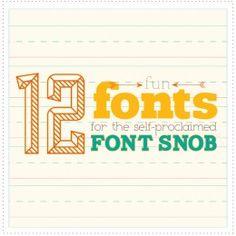 font snob | the handmade home