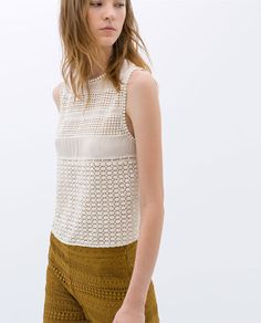 Image 2 of EMBROIDERED SLEEVELESS TOP from Zara