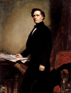 Official White House Portrait of Franklin Pierce - 14th President of the United States Franklin Pearce was of French Huguenot Descent