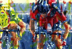 Las 21 etapas del Tour de Francia visto por el pintor holandés Rob Ijbema. (Parte II) - ciclografias