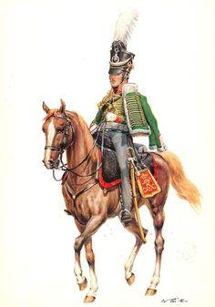 Armées etrangéres - Tritt W. Prusse 1735-1845 - Les costumes militaires -2eme Régiment HUSSARDS 1812