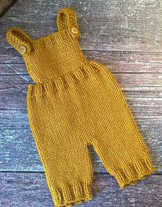 Knitting Pattern for Mustard Romper