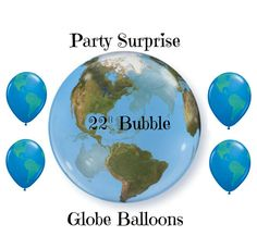 Globe Balloons World Geography Classroom Around by PartySurprise