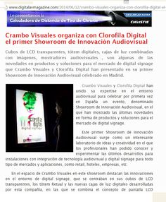 prensa clorofila clorofila digital crambo visuales innovacion organiza audiovisual sitio web primer showroom
