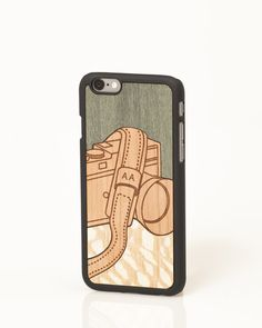 """Lens """"Valuable Leisures"""" wooden iPhone cover by Wood'd"""