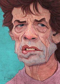 Sir Mick Jagger illustration