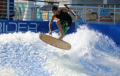 #FlowRider #Surf Sports Complex, Royal Caribbean Cruise, Surfs Up, Wakeboarding, Extreme Sports, Snowboarding, Skateboard, Flow, Surfing