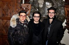 ALL the guys in glasses at Piero's event making him ambassador of Naro, 12/28/14