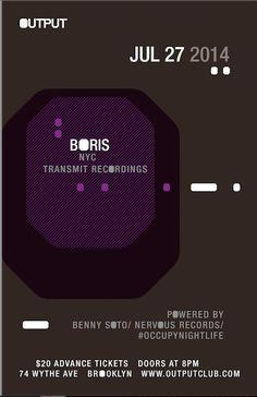 Anew Productions: BORIS @ OUTPUT JULY 27