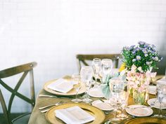 table setting composition.