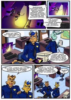 Page 21 - You'd have thought an Anthroid would have thought about stuff like digital surveillance...  #heykitty #anthroidsrise #webcomic #furry #illusionofchoice