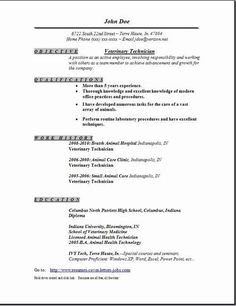 Veterinary Resume College Veterinary Medicine  Cornell University Sample Resumes