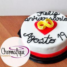Wedding anniversary cake (Torta de aniversario de matrimonio) https://www.facebook.com/ChromatiquePasteleria