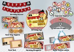 Jake+Pirates+Printable+Party+Package+by+DigiPartyShoppe+on+Etsy,+$18.00