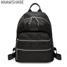 21cd7a82cb82 Anawishare дизайнер Для женщин рюкзак черный мешок школы для подростков  Обувь для девочек женские Водонепроницаемый Дорожные сумки рюкзак Mochila  Escolar ...