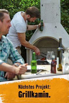 Schon mal einen Grillkamin selbstgebaut? Hier findest Du die Bauanleitung. Tricks, Grilling, Bbq, Outdoor, Garden, Tomatoes, Diy, Basteln, Pressure Washers