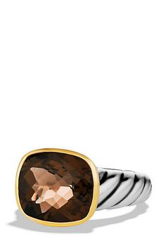Noblesse Ring with Smoky Quartz or 5 other stones and Gold