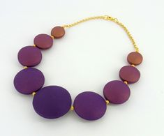 Premo! Polymer Clay Ombre Hollow Bead Necklace tutorial  by Gretchen Amberg